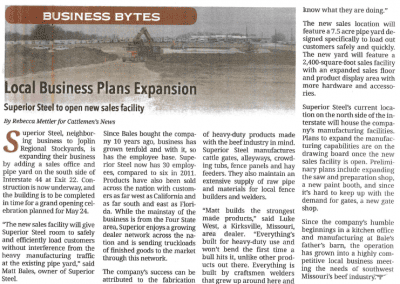 Expansion Article from Cattlemans News